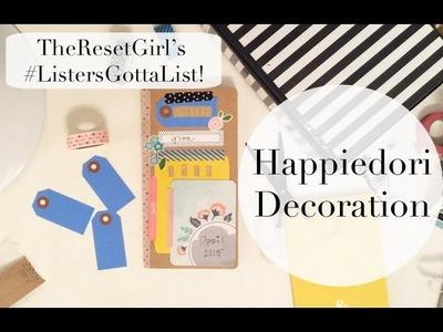 Happiedori Decoration: TheResetGirl #ListersGottaList | Art Journal With Me!
