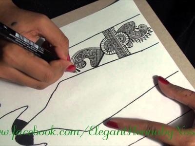 Henna.Mehndi Design on paper by Elegant Henna 1