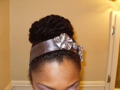 High Bun Protective Style No gel {Natural Hair} ♀21