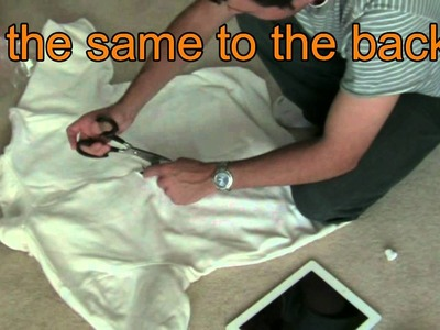 HOW TO- Bloody iPad2 Halloween Costume- Gaping hole in torso