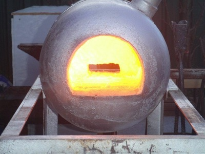 How to build a simple gas forge. Making the shell and installing refractory, Tips and Tricks