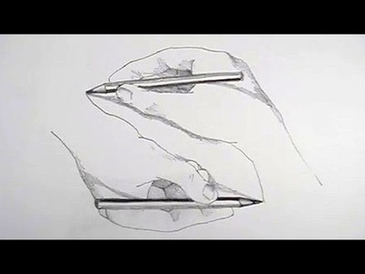 "How to Draw M.C.Escher's ""Amazing Hands"" illusion"