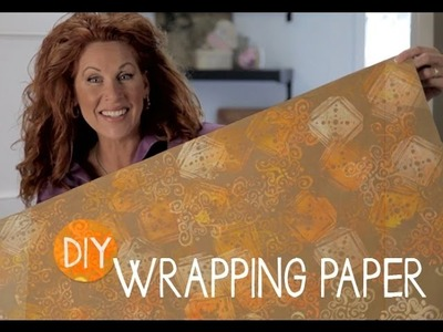 How to Handmake Wrapping Paper • Easy • Kid-friendly • Cool