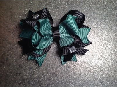 How To Make a 4 inch stacked boutique hair bow
