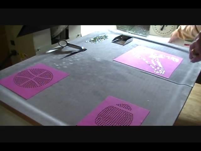 How to make a Rhinestone Transfer ,Making Rhinestone Sports T-shirts with Sticky Flock #1.wmv