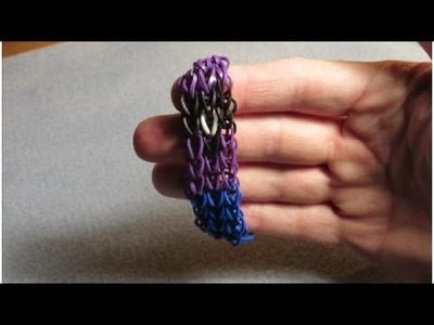 How to make an Evil Minion rainbow loom bracelet - Tutorial. Pattern