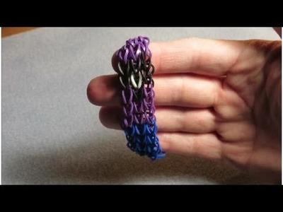 How to make an Evil Minion rainbow loom bracelet - Tutorial. Pattern