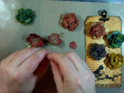 How to make Grunge Paper roses