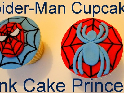 How to Make Spider-Man Spider Cupcakes - A Cupcake Decorating Tutorial by Pink Cake Princess