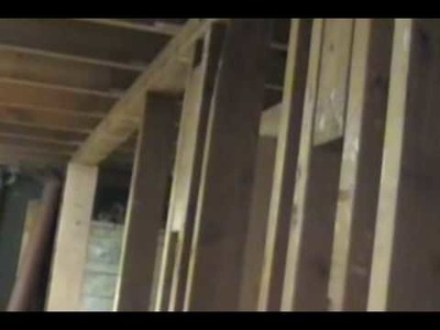 How to replace a bearing wall with a seventeen foot header!
