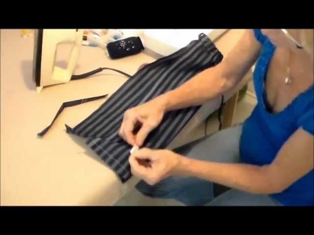 How to Sew a Hanging  Grocery Plastic Baggy Holder in 30 mintues or less.