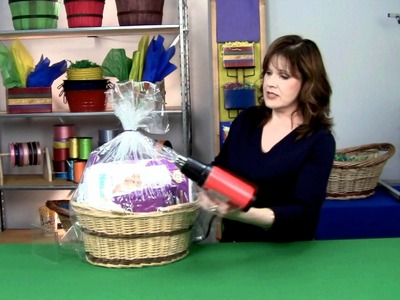 How to Shrink Wrap a Gift Basket