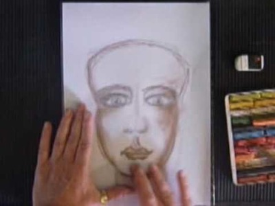 How to sketch and shade a face with chalk pastels 2010.
