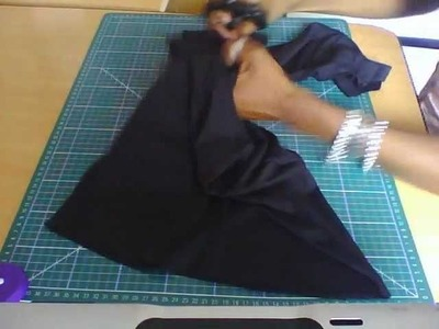 HOW TO: T-SHIRT RECON ( STYLE 3) Halter neck and Bolero PART 1 OF 1. THIS IS A NO SEW PROJECT
