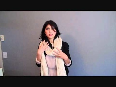 How to wear a scarf: Long and chunky