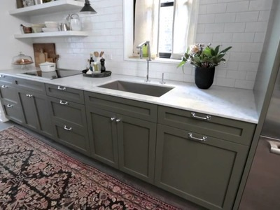 Interior Design — Narrow & Timeless Rowhouse Kitchen Design Makeover