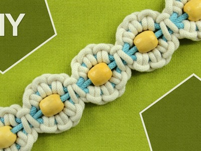 Macrame Flower motif with Pearl in center. Tutorial 1