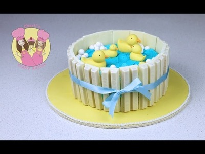 Make a Ducks in Pond Kit-Kat Cake - Baby shower - Part 1 with Aunty Elise from My Cupcake Addiction