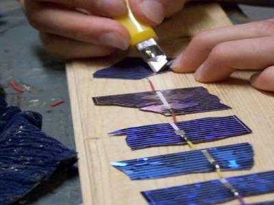 Make a solar panel from broken cells