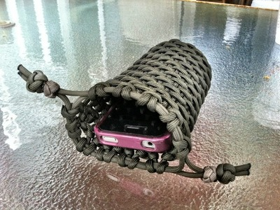 Paracordist's paracord iPhone case double cinch pouch