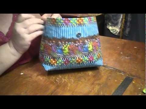 Part 3 (of 3) Simple Handbag Tutorial (With Drop In Lining)