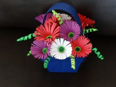 Part I - How to make quilling flower basket