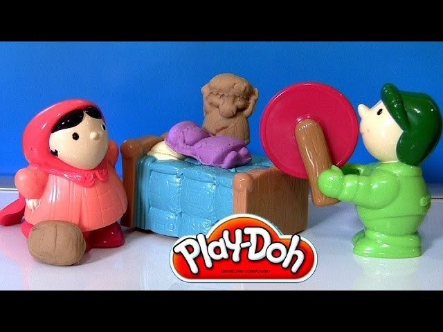 Play Doh Little Red Riding Hood Set FairyTales with Big Bad Wolf PlayDough La Chica de la Capa Roja