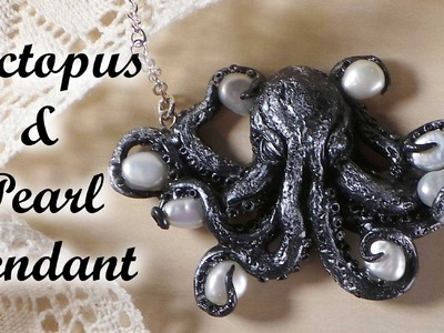 Polymer Clay Octopus & Pearl Charm - Tutorial