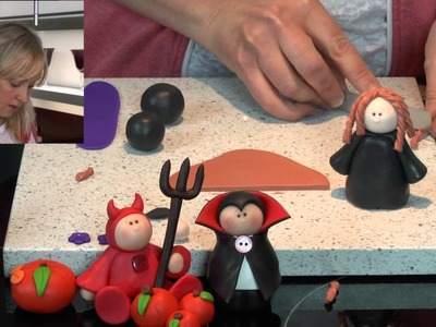 Polymer Clay Tutorials - How to make a cute Halloween Witch