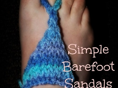 Simple Barefoot Sandals On A Loom
