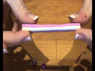 Tutorial: Marshmallow.Lecca-lecca in Fimo.Cernit - Marshmallow.lollipop in polymer clay