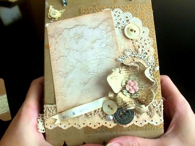Vintage Wedding Album, Mini Junk Journal and Father's day card.photo shoot