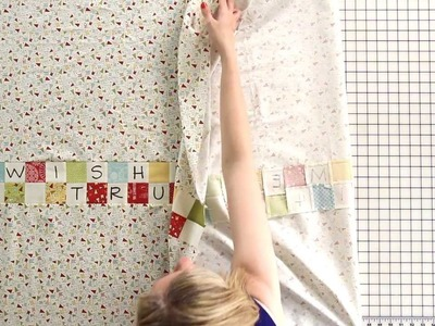 Wishes Quilt Along - How to Assemble the Quilt Backing - Fat Quarter Shop