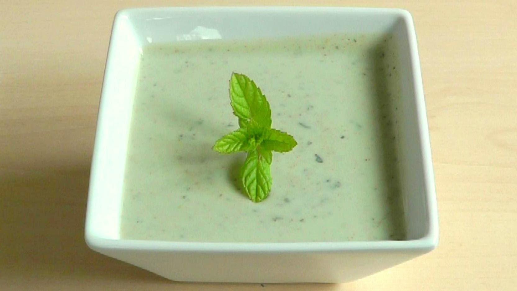 Yogurt Mint Sauce How to Make Raita dip