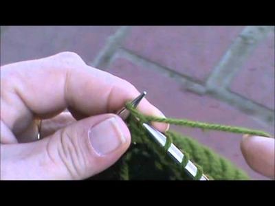 2 Color.Intarsia in Garter Stitch