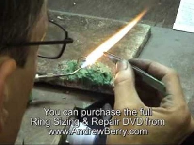 Andrew Berry shows you how to replace a shank on a dress ring Part 2 of 2