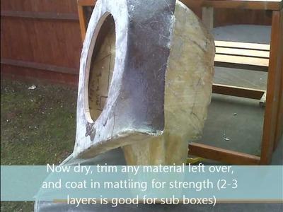Bass Sub Box Fiberglass Custom DIY Build. for £50