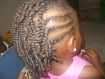 Child's Hairstyle Tutorial (Twists on Natural Hair) : Inspired by prettydimples01