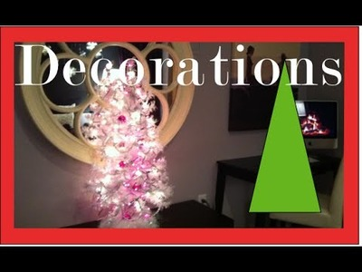 Christmas Decorations and Decorating a girls bedroom for the Holidays - tutorial
