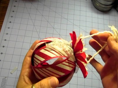 Christmas in July 2012 v2; paper kissing ball ornaments fast easy and fun