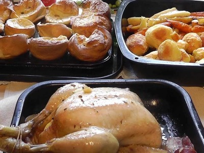 Christmas Roast Chicken Dinner How to Make Food Easy Recipe