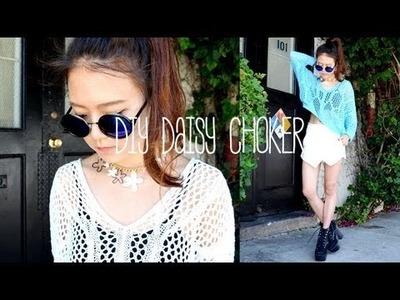 DIY Daisy Choker Necklace