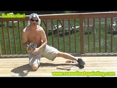 DIY Stripping, Sanding, & Staining Deck (Part 3)- Benjamin Moore Arbor Coat Deck Stain