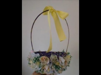 EASY No Sew Fabric Easter Basket