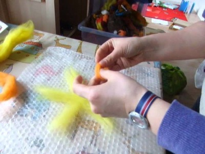 Felting with Shirin: flowers for butterflies and bees