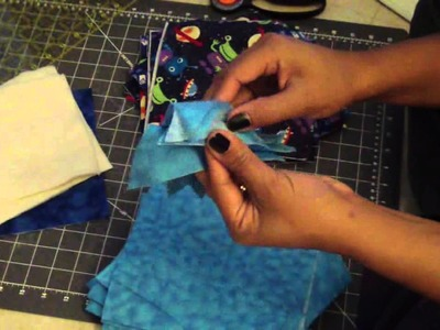 Flannel Rag Quilts Tutorial, Part 2 of 4: Block sizing, Layering, and Diagonal Quilt Layout