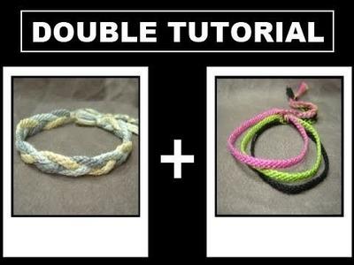 ► Friendship Bracelet Tutorial - Beginner - Thin Bands & Sailor's Knot