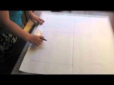Grandma's Sewing Cabinet Skirt Pattern Drafting Tutorial 3: Part 1 Drafting the Pattern