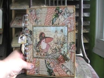 Graphic 45 Ladies Diary Mini Paper Bag Album box and Card