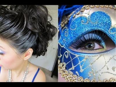 Halloween Tutorial: Elegant Venetian Masquerade Hair & Makeup